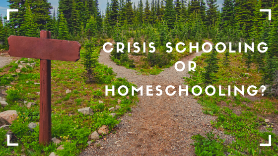 Are Crisis Schooling and Homeschooling the Same Thing?