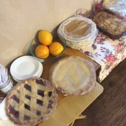 Just a few of the 21 pies