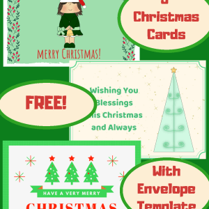 Red and Green Cute Christmas Cards