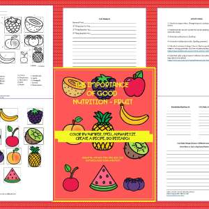 Fruits are Good for You Activity Pack