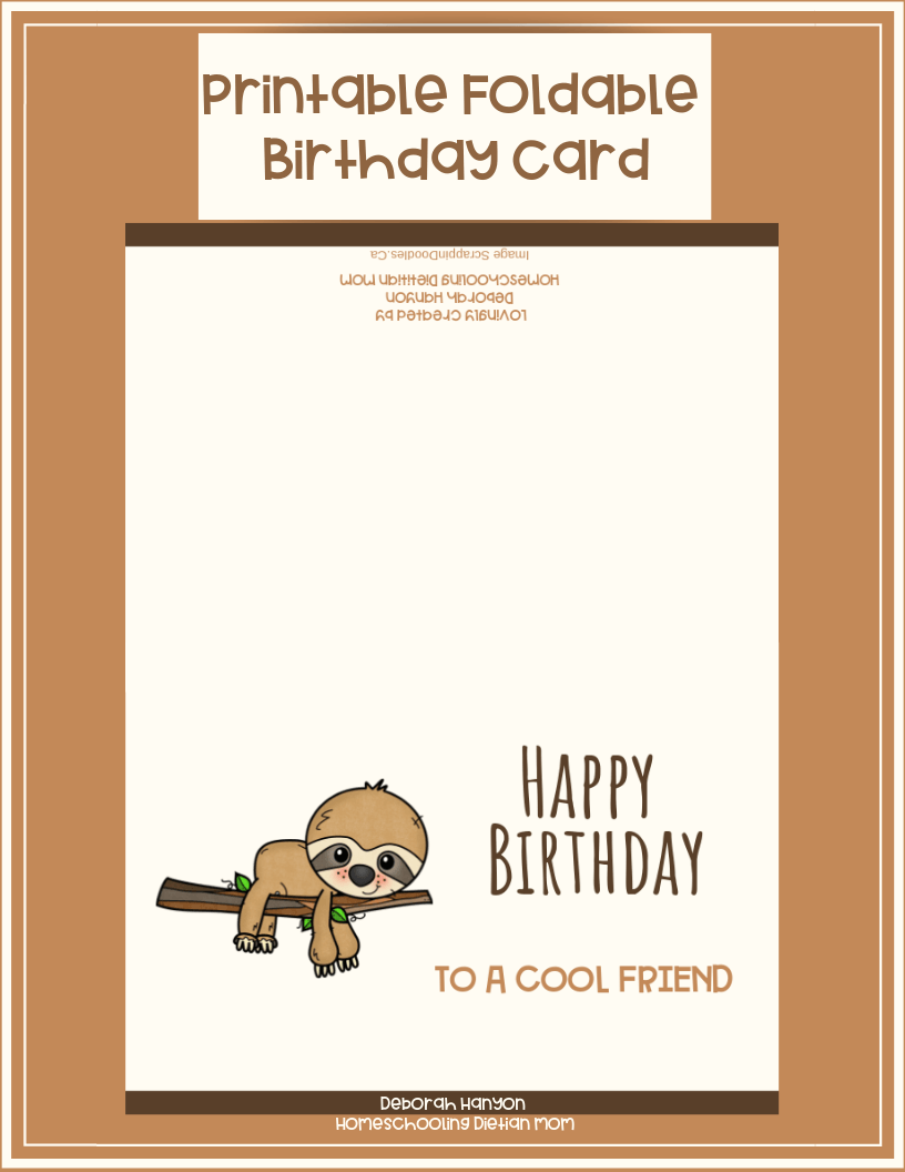 photograph relating to Printable Birthday Cards for Boys known as Printable Birthday Card - Mate - Homeschooling Dieian Mother