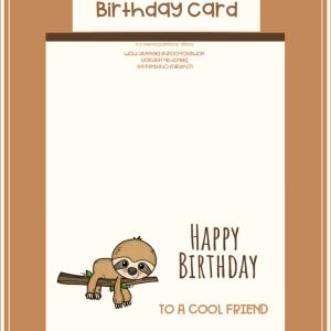 Printable Birthday Card for Boy