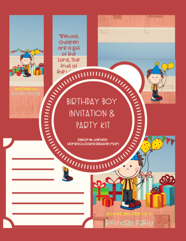 Birthday Boy Invitation - Printable