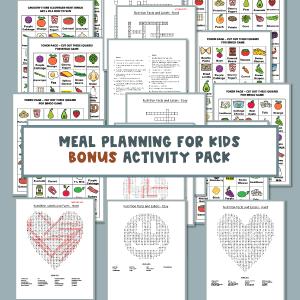 Meal Planning Activities Book