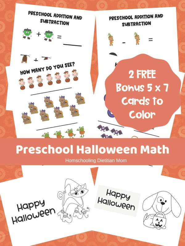 Preschool Halloween Math