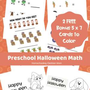 Preschool Halloween Math