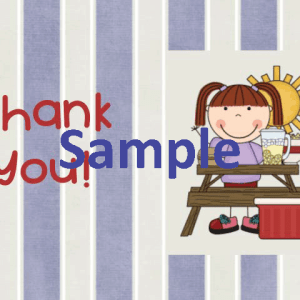 Summer Thank You Card - Girl