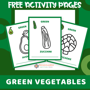 Green Vegetables Activities