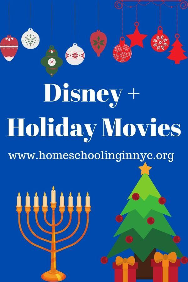 Holiday movies on Disney +