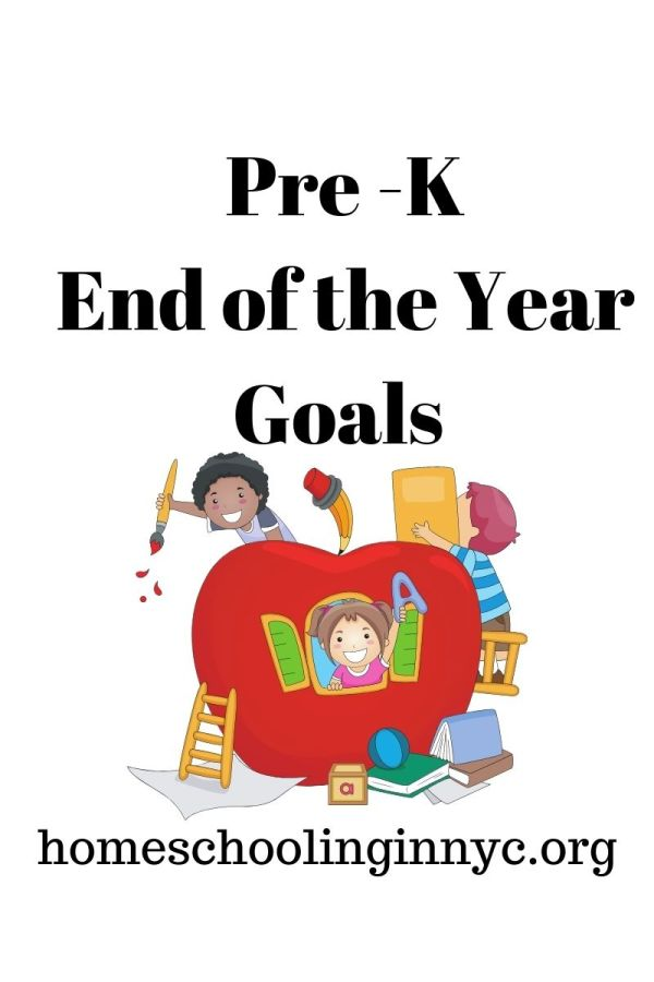 Pre-K End of the Year Goals