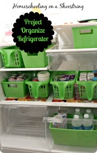 Homeschooling on a Shoestring Project Organize Refrigerator