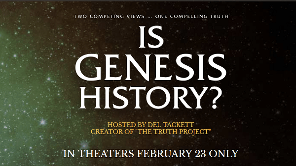 Is Genesis History? Film Produced by Homeschool Dad – in Theaters One Night Only!