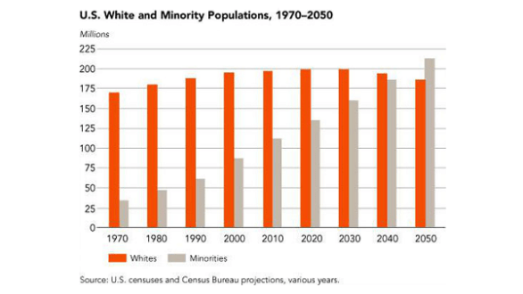 US white and minority populations