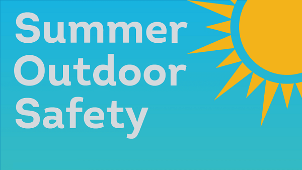 Summer Outdoor Safety Tips Infographic  By HST
