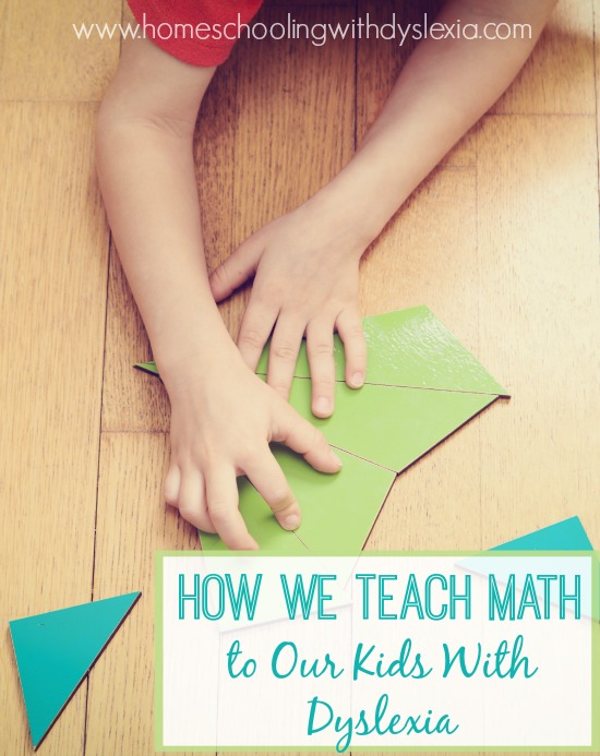 Wondering how to teach math to your child with dyslexia? Use multisensory techniques and help your dyslexic child learn math. I'm sharing exactly how we teach math in our homeschool.