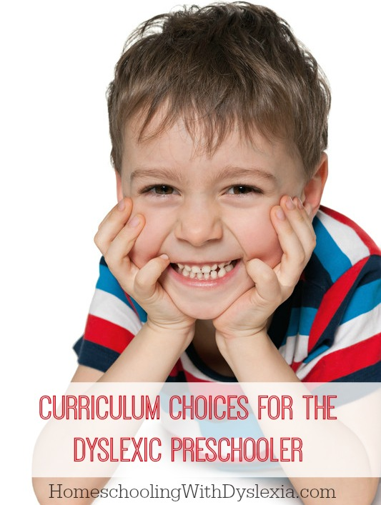 Research has shown that the two best predictors of reading success are alphabet recognition and phonemic awareness. These are both things the dyslexic preschooler will probably struggle with. So, homeschool curriculum choices is so important! Here are great curriculum choices for the dyslexic preschooler.