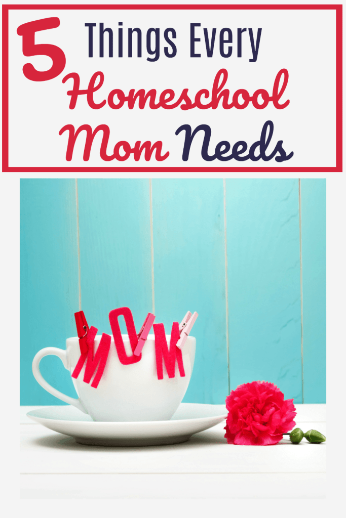 What does a homeschool mom need? Here are five things that may surprise you and one easy way to get them!