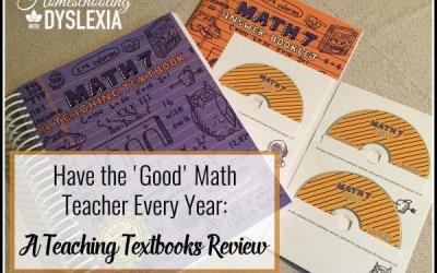 Have the Good Math Teacher Every Year:  A Teaching Textbooks Review