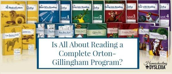 Is All About Reading a Complete Orton-Gillingham Program?