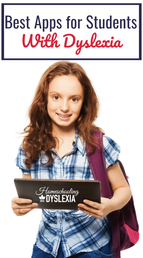 As our dyslexic kids enter the middle school years I begin to add the use of assistive technology to their homeschool goals.  One way we do this is through apps. The best apps for students with dyslexia are listed here.