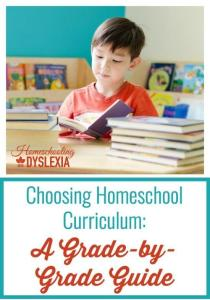 Homeschool Curriculum Dyslexia