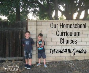 Homeschool Curriculum: What We're Using for 1st and 4th Grades