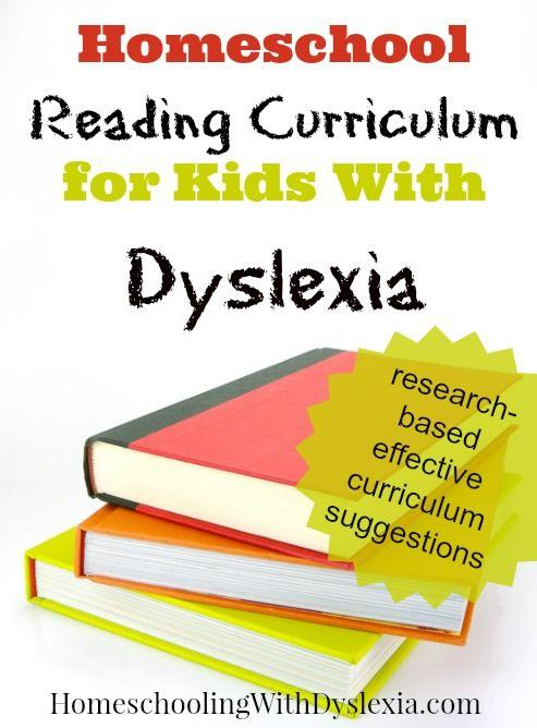 Homeschool Reading Curriculum For Kids With Dyslexia Homeschooling
