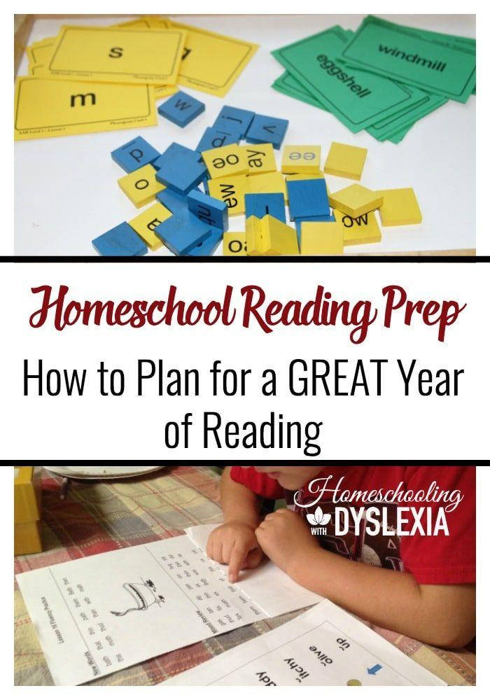 Spending an hour now on homeschool reading prep will help you achieve a better, more consistent,  year of reading. #homeschoolingwithdyslexia #homeschooling #homeschool #reading #homeschoolreading #teachreading #readingprep