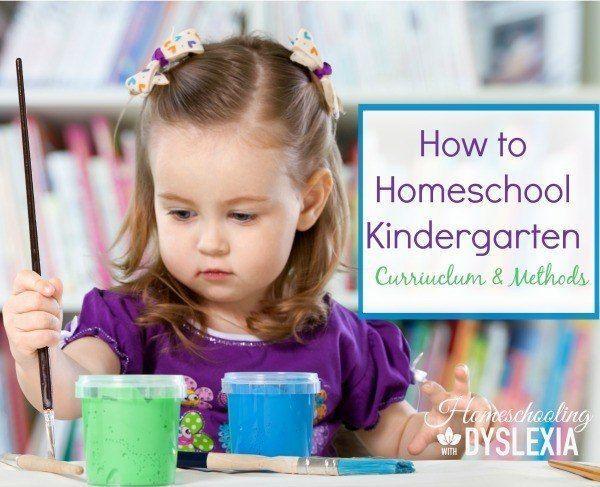 Homeschool Kindergarten:  Curriculum and Methods