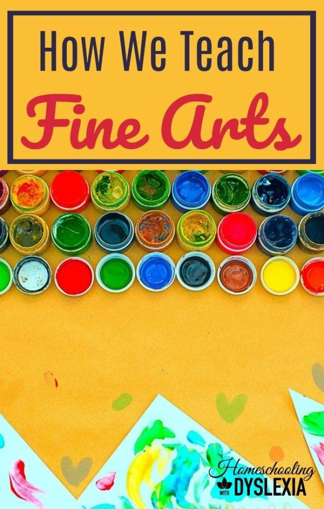 Do you struggle with fine arts in your homeschool? Here are some ways to teach fine arts in your homeschool!