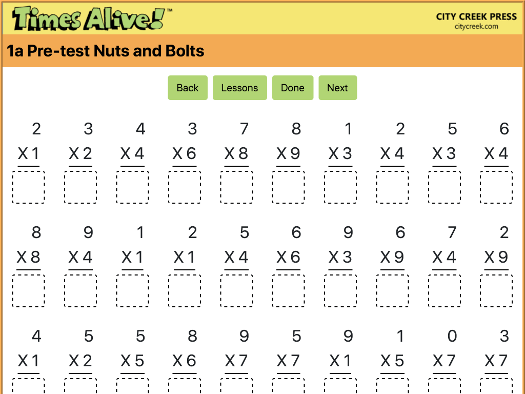 Times Alive Math Facts