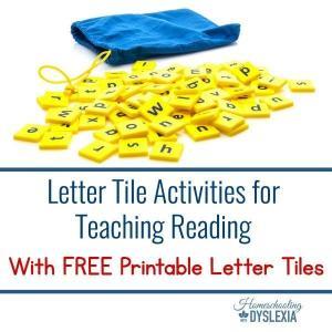 Letter Tile Activities for Teaching Reading