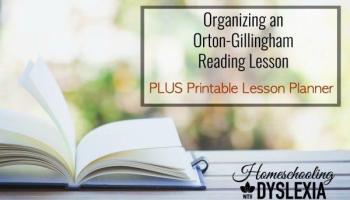 orton gillingham reading lesson free printable planner