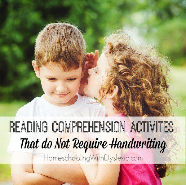 13 Reading Comprehension Activities Without Handwriting