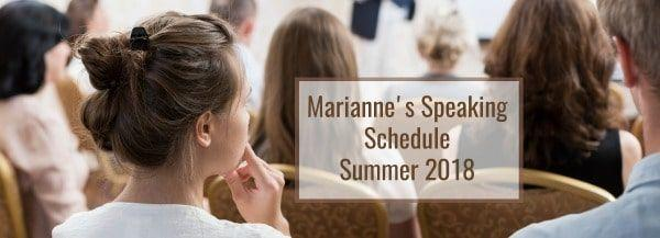 Speaking Schedule 2018