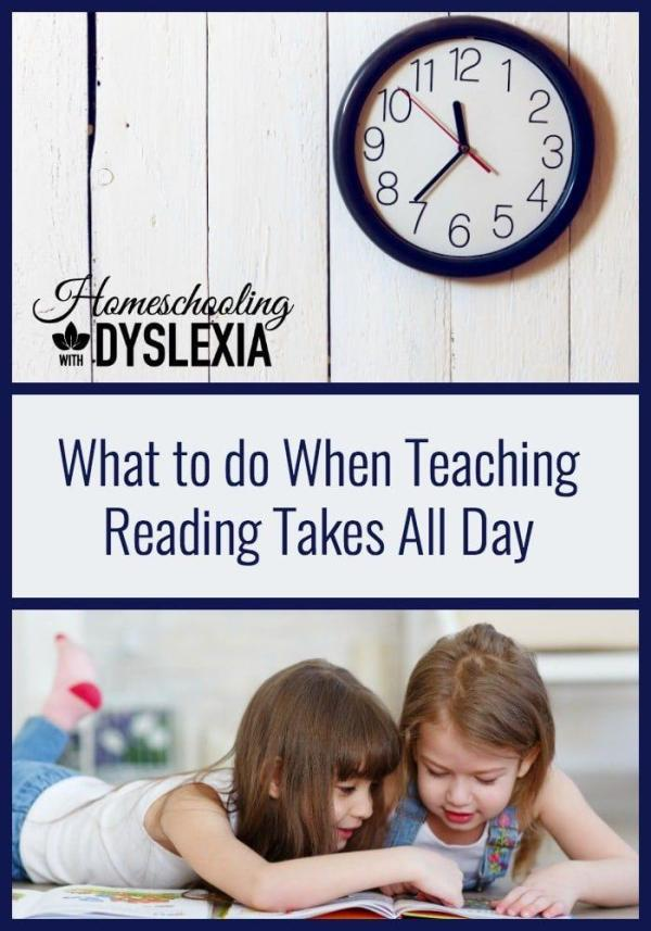 Teaching reading to kids with dyslexia, especially a houseful of kids with dyslexia, can seem to take all day. Here are my top tips for getting more done and making time for some extras.