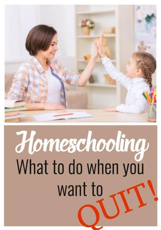 Do you feel like you want to quit homeschooling? What ever the cause of your struggles; whether its your kids' attitudes, or a lack of confidence, or whatever, here are four things to think about before you quit.