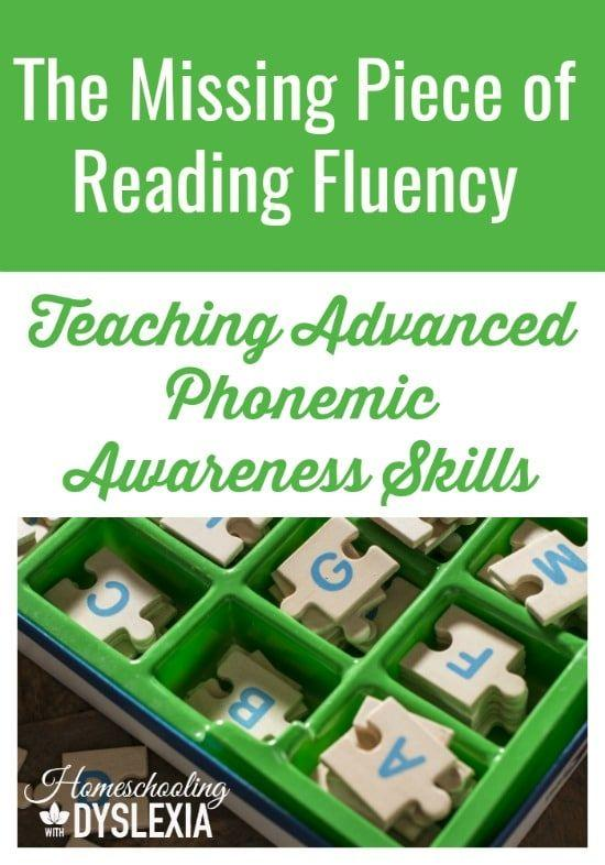 Advanced Phonemic Awareness and Reading Fluency-Research shows that advanced phonemic awareness skills are critical to becoming a fluent reader.