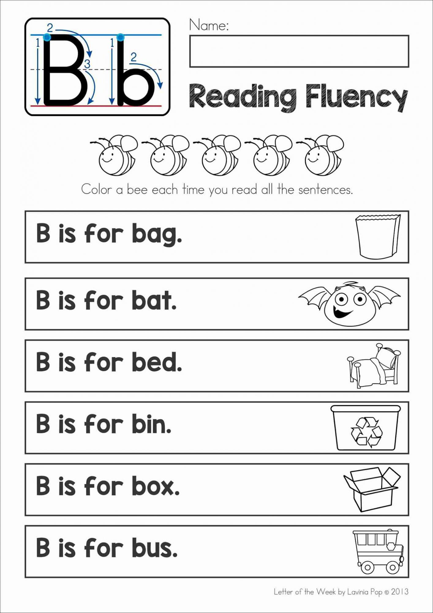 Phonics Letter Of The Week B Free Printable
