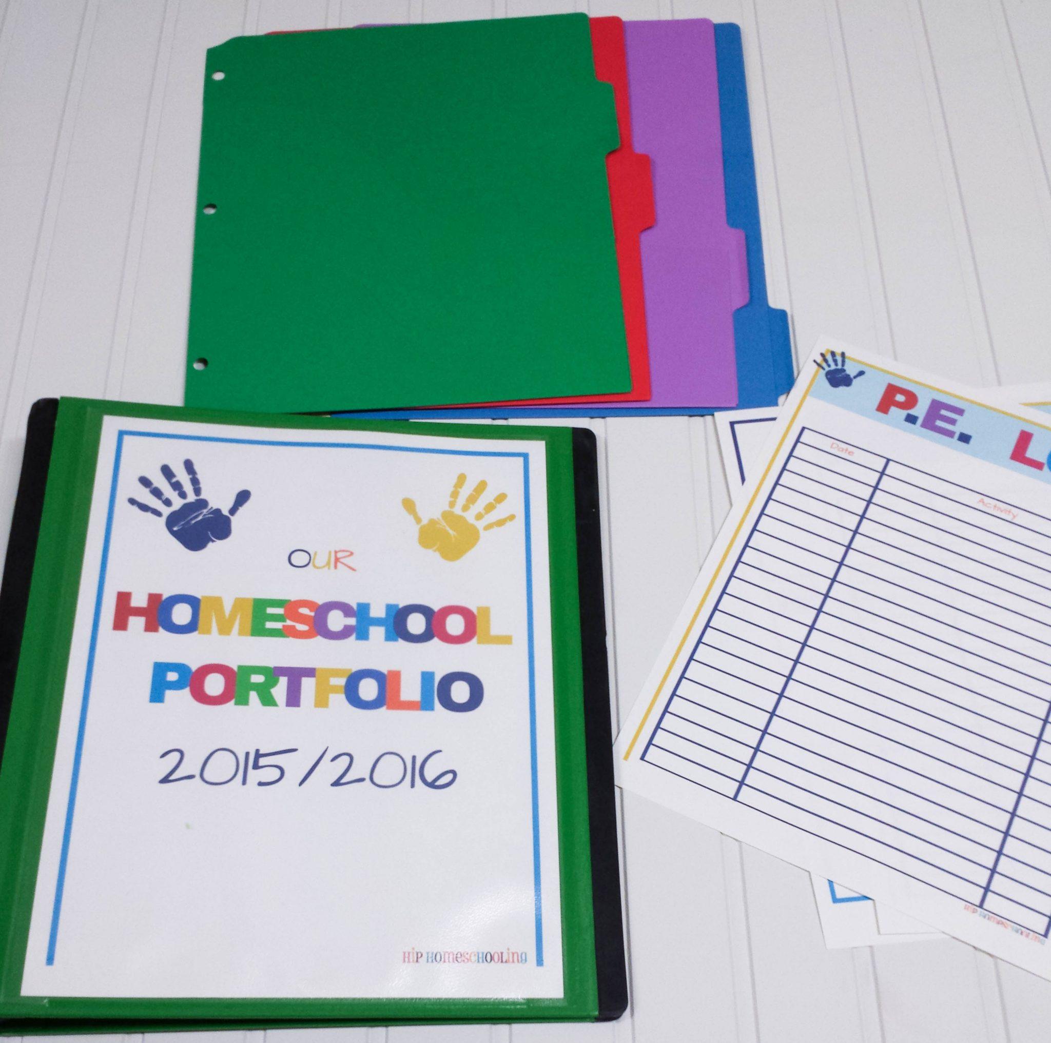 Homeschool Portfolio Printable