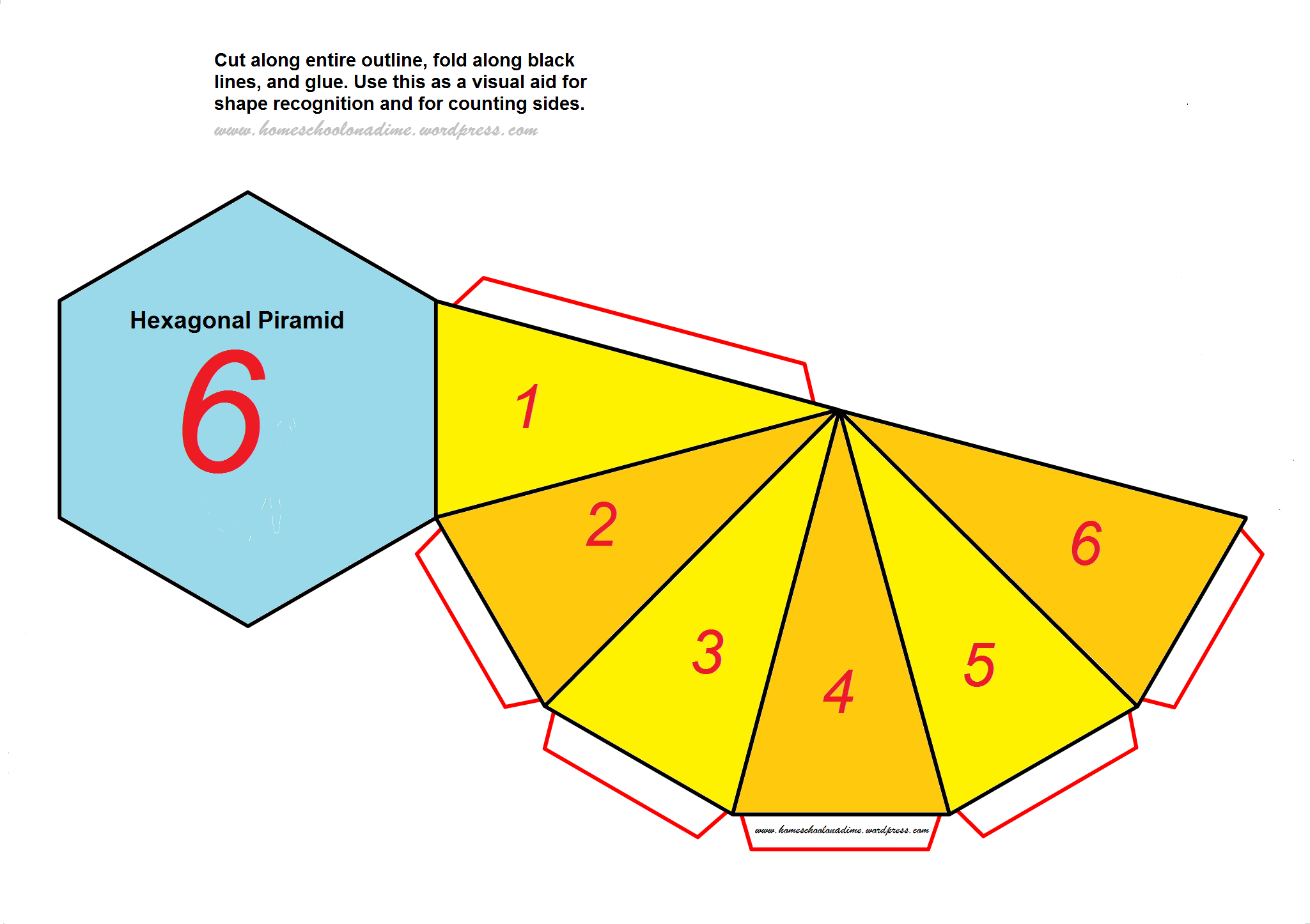 Counting The Sides Of Complex Shapes Free Hexagonal