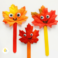 Fall Leaf Family: A Simple Leaf Craft
