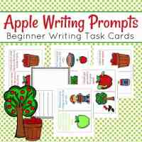 Apple-Themed Writing Task Cards for Beginning Writers