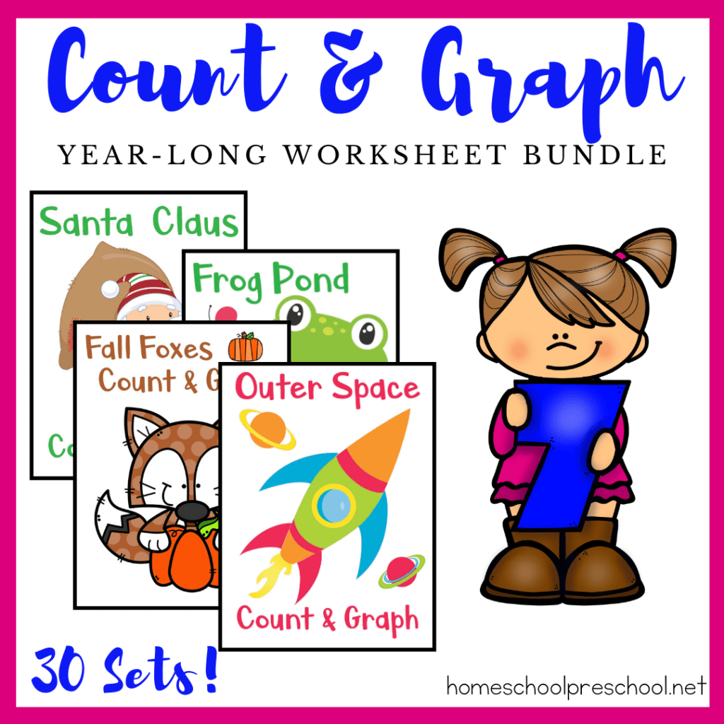 Printable Dinosaur Count And Graph Worksheets For Preschool