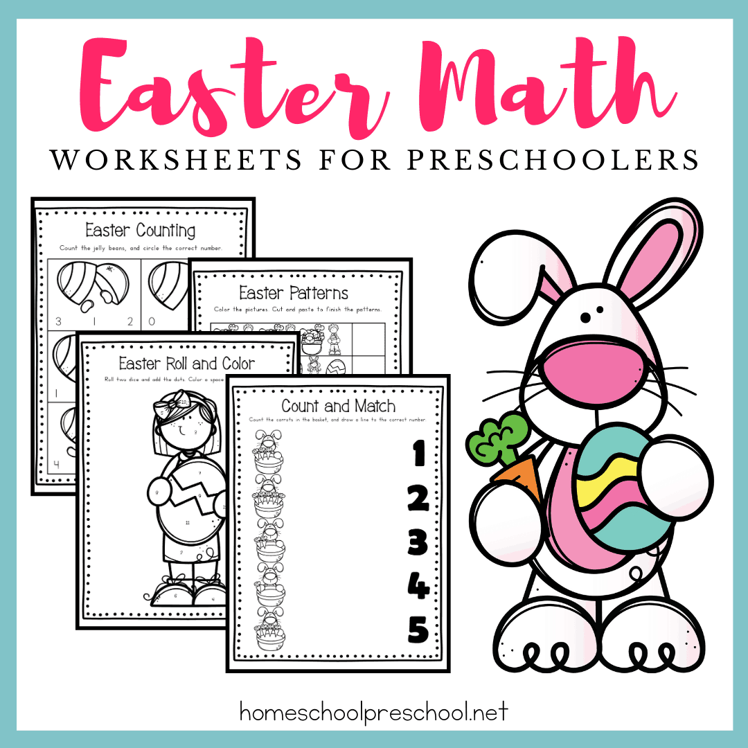 Free Easter Math Worksheets For Preschool