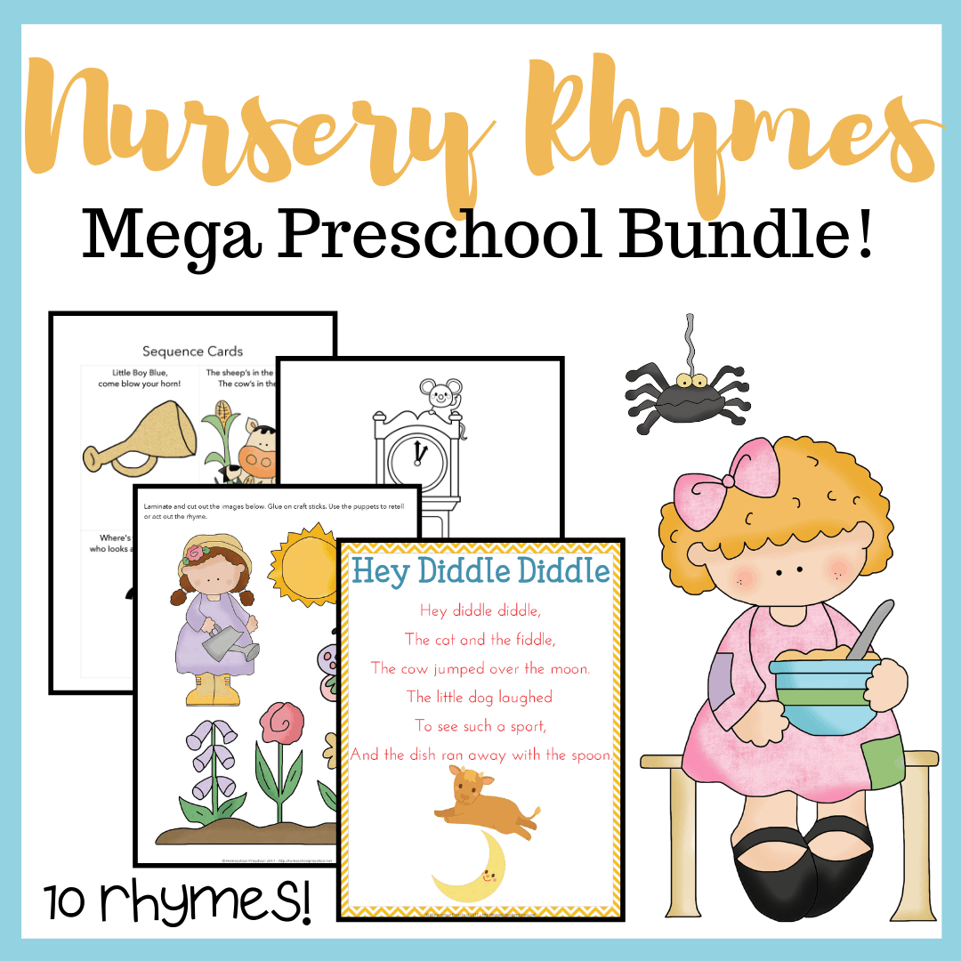 Printable Nursery Rhyme Activities Bundle For Preschool
