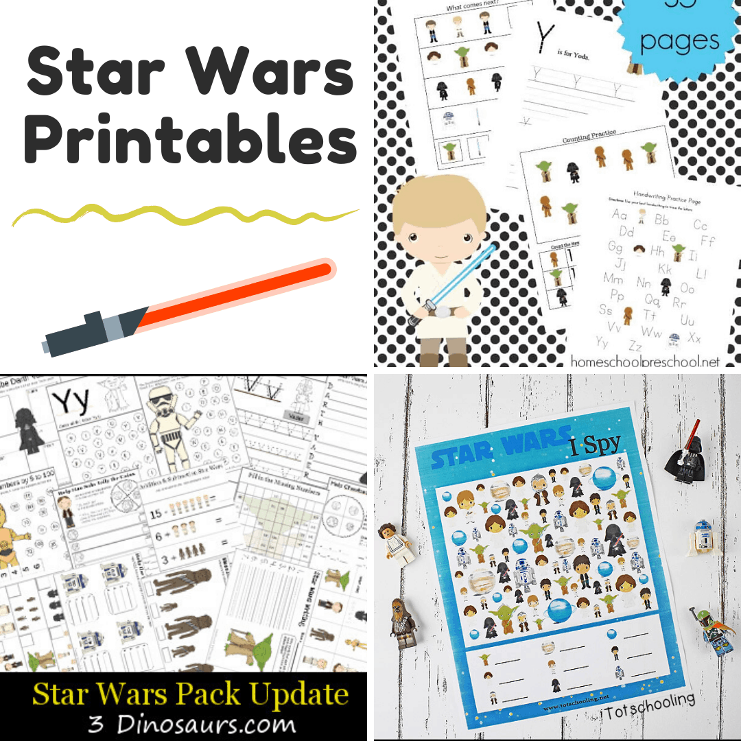 10 Out Of This World Star Wars Preschool Printables