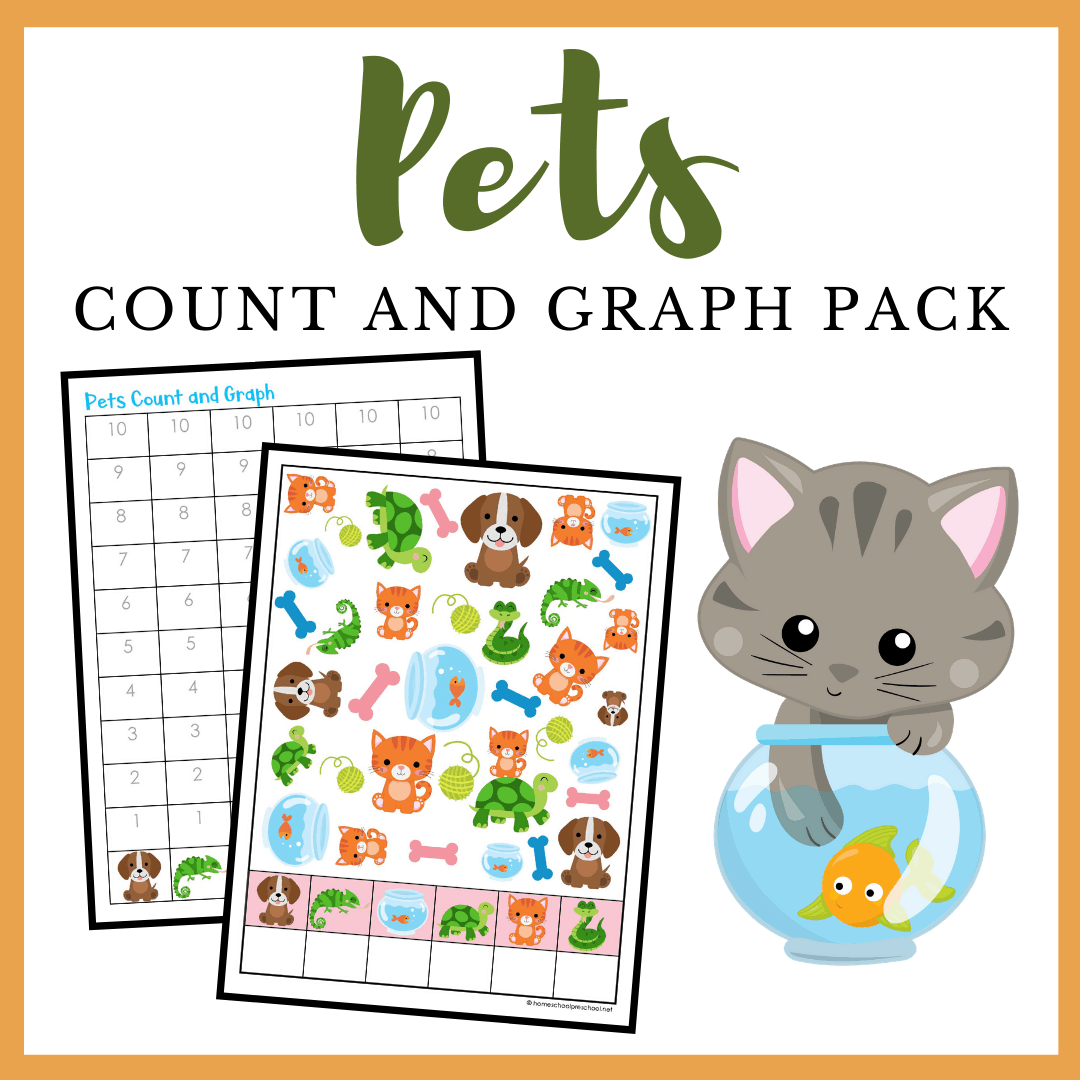 Printable Pets Count And Graph Worksheets