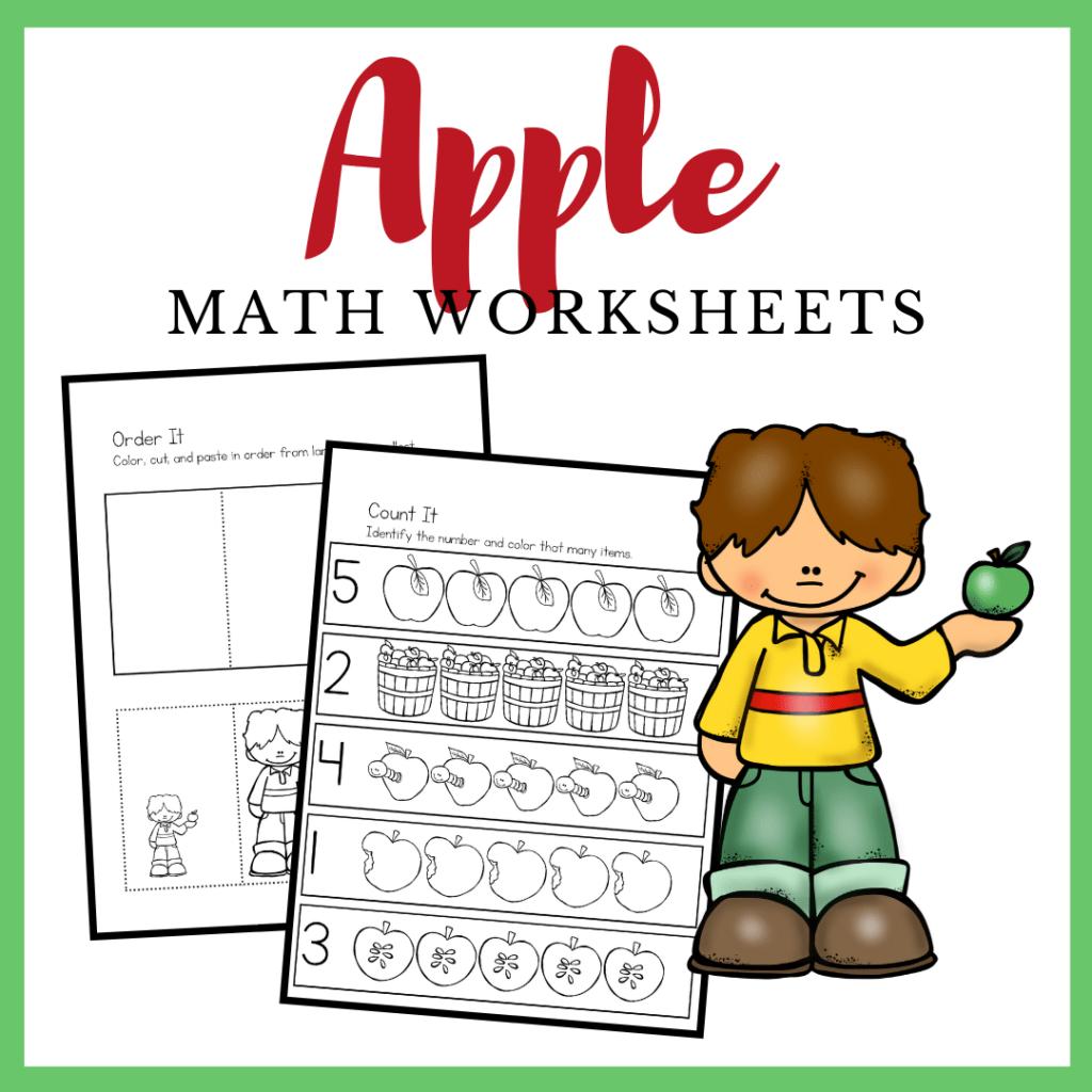 Free Printable Apple Math Worksheets For Preschoolers