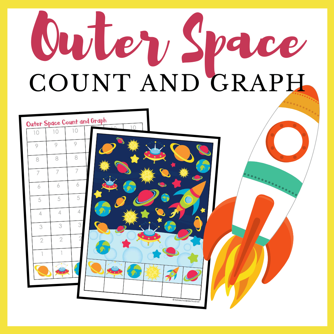 Printable Outer Space Count And Graph Worksheets